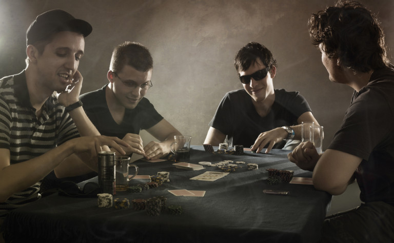 lads playing poker